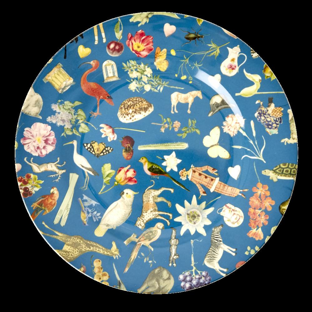 RICE Melamin Teller Blue Art Print