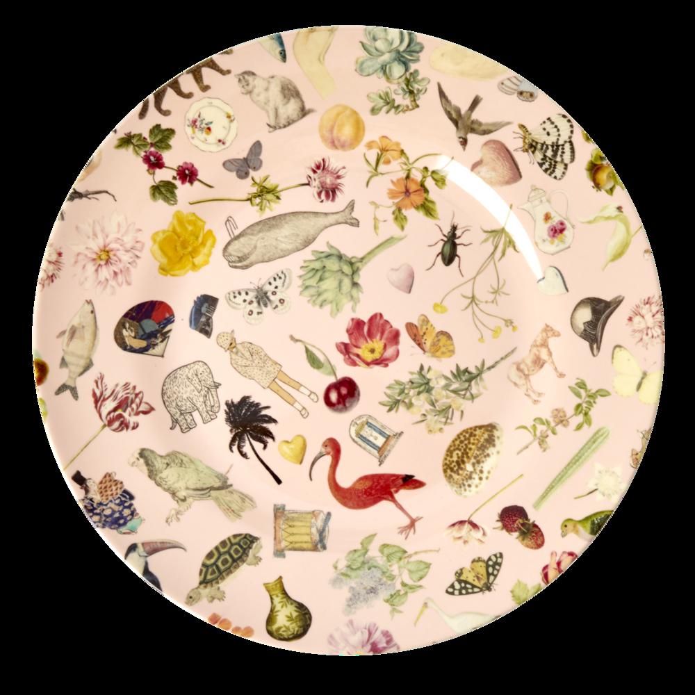 RICE Melamin Teller Pink Art Print