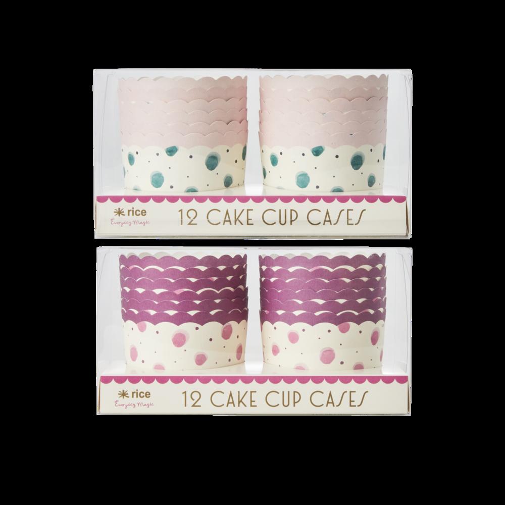 RICE Muffin-Formen Kuchenform aus Papier Watercolor Splash