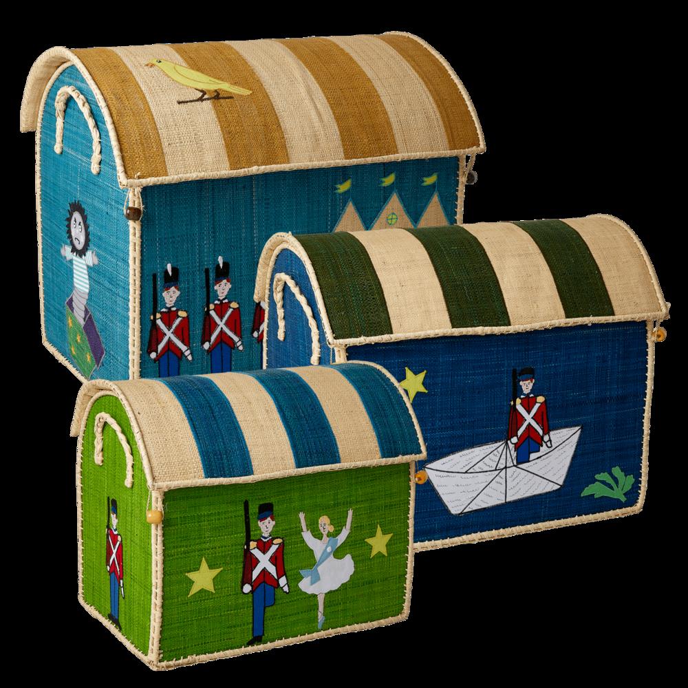 RICE Raffia Spielzeugkörbe Standhafter Zinnsoldat