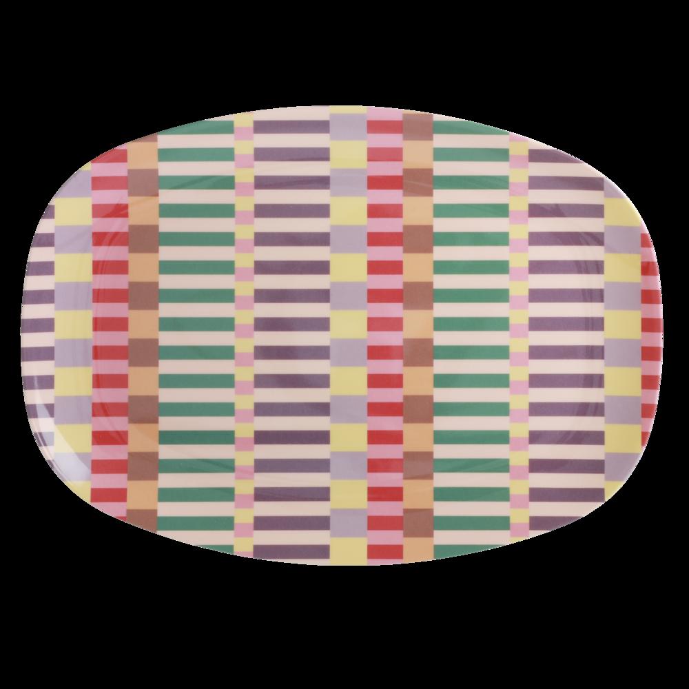RICE rechteckiger Teller Summer Stripes