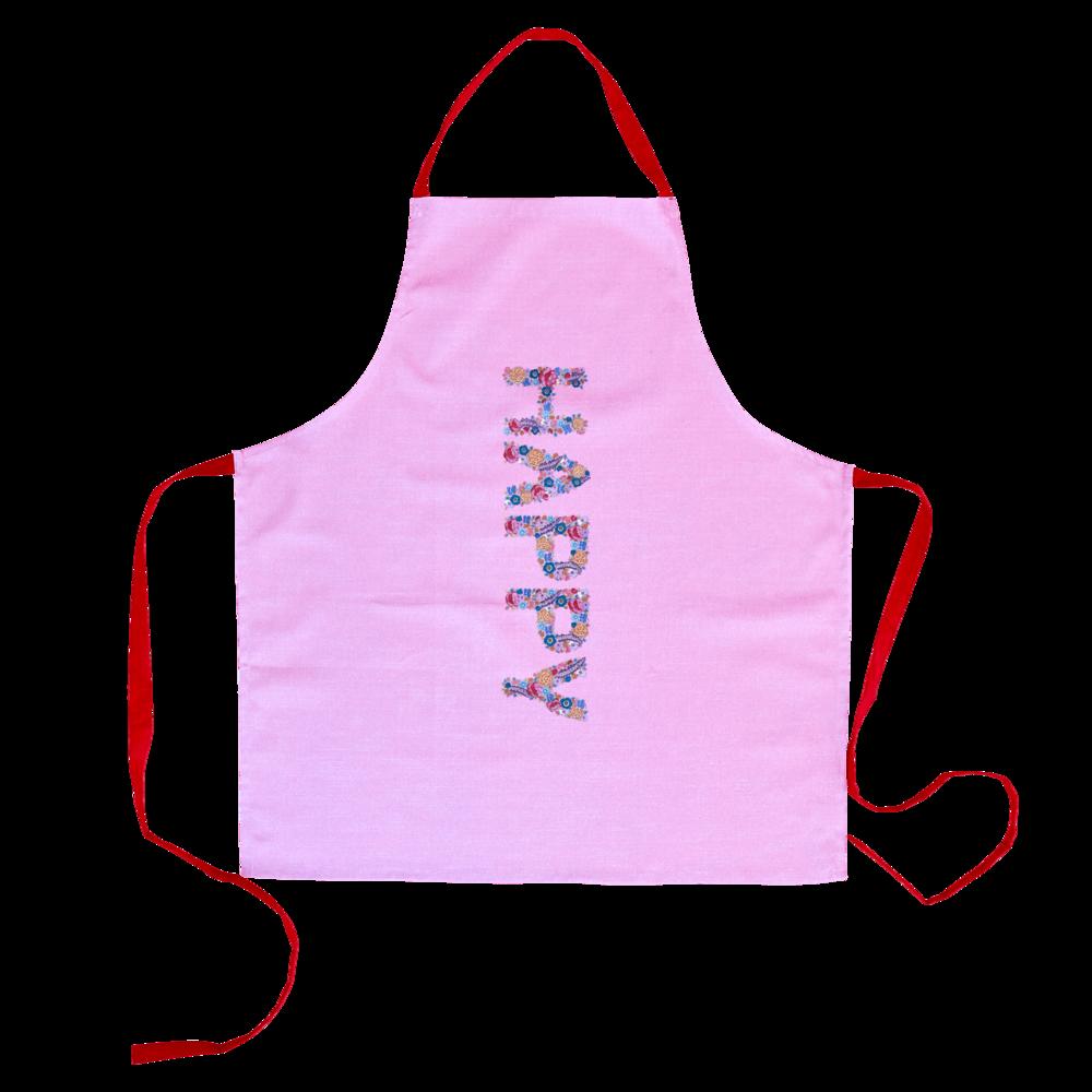 RICE Schürze Happy Pink