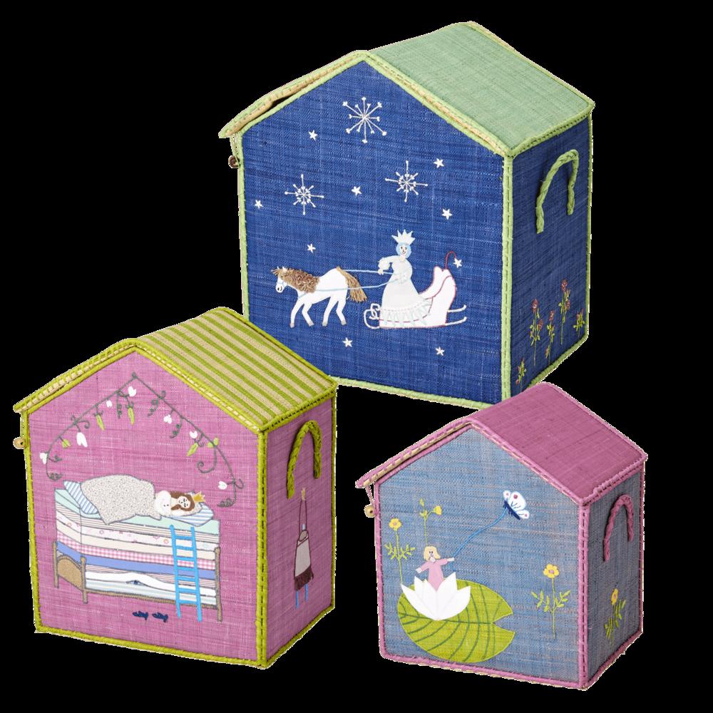 RICE Spielzeug Aufbewahrung Fairytale 3er Set