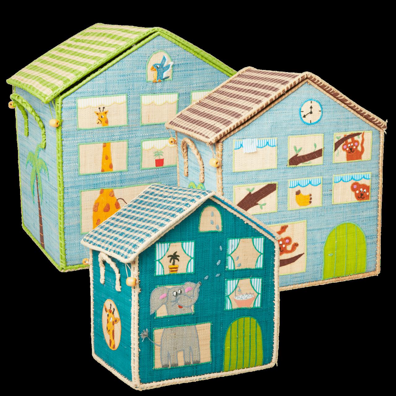 RICE Spielzeugkisten 3er Set Junge 2