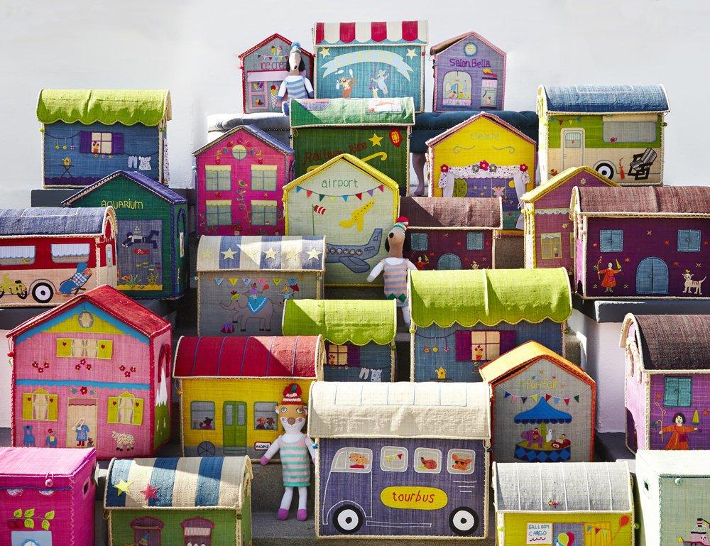 Impressionen zu RICE Spielzeugkörbe Aufbewahrung 3er Set Circus, Bild 4