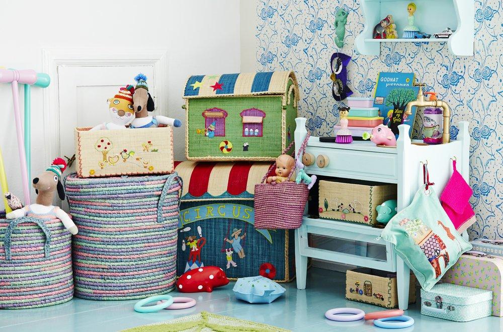 Impressionen zu RICE Spielzeugkörbe Aufbewahrung 3er Set Circus, Bild 5