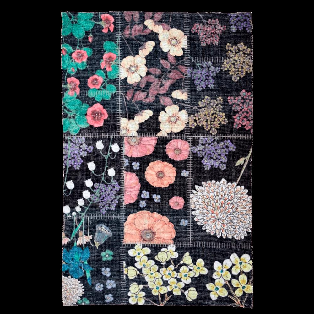 RICE Teppich Blumen