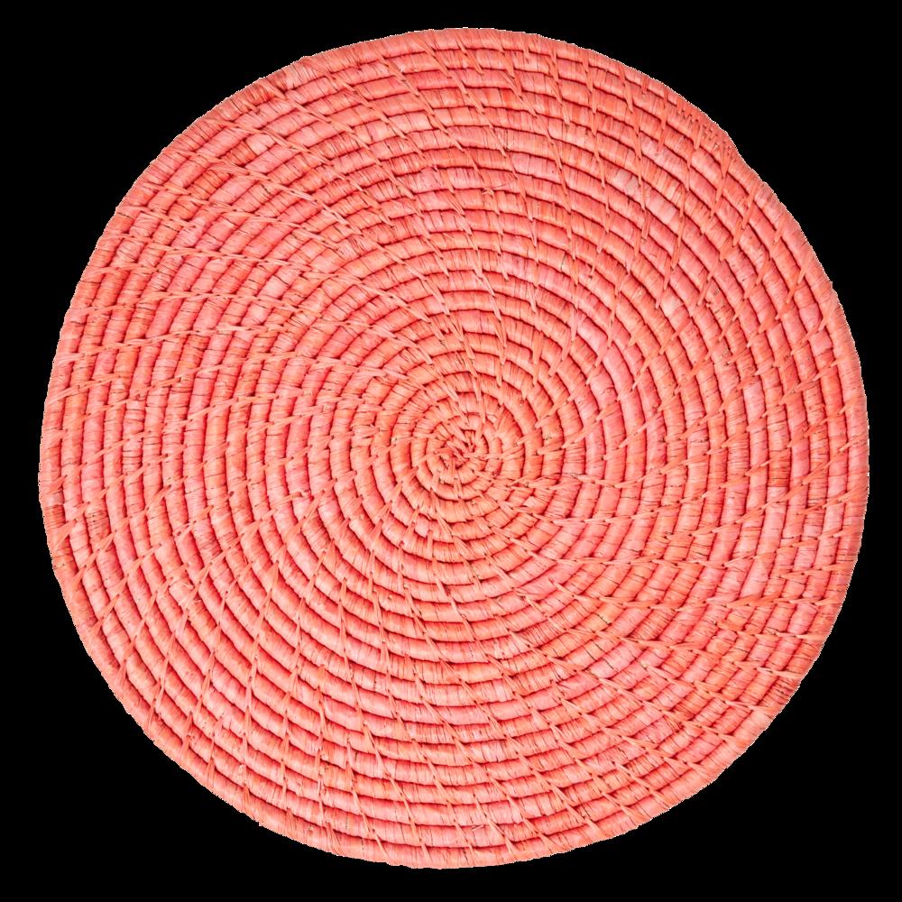 RICE Tischset Raffia rund