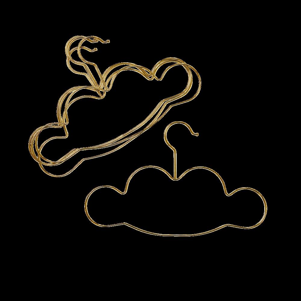 RICE Wolkengeformte Kinderkleiderbügel
