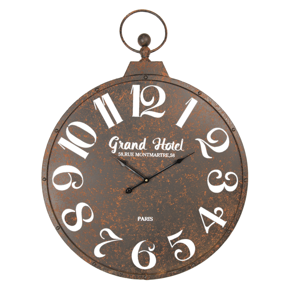 Clayre & Eef Rusty Clock Grand Hotel XXL