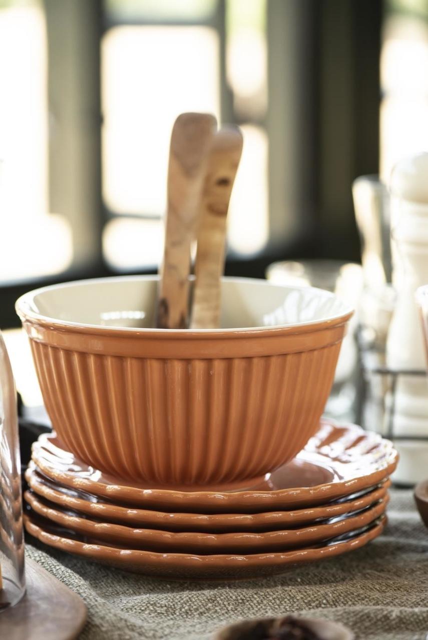 Impressionen zu Ib Laursen Salatbesteck Olivia UNIKA Olivenholz, Bild 5