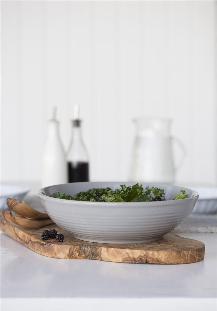 Impressionen zu Ib Laursen Salatbesteck Olivia UNIKA Olivenholz, Bild 2