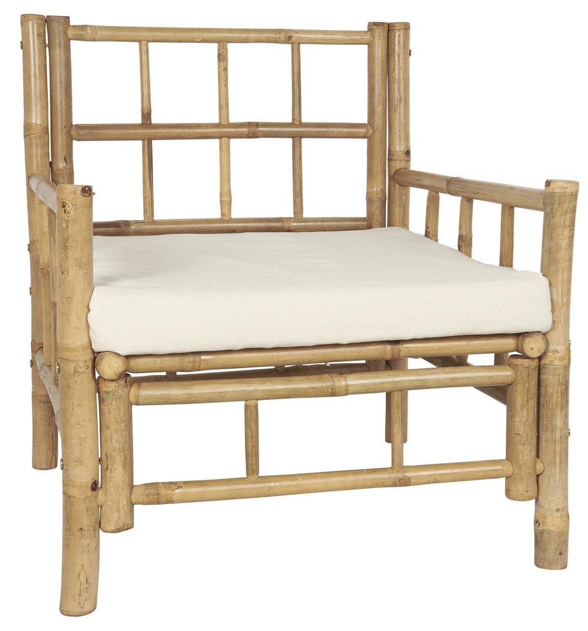 Ib Laursen Sitzstuhl mit Kissen Bambus