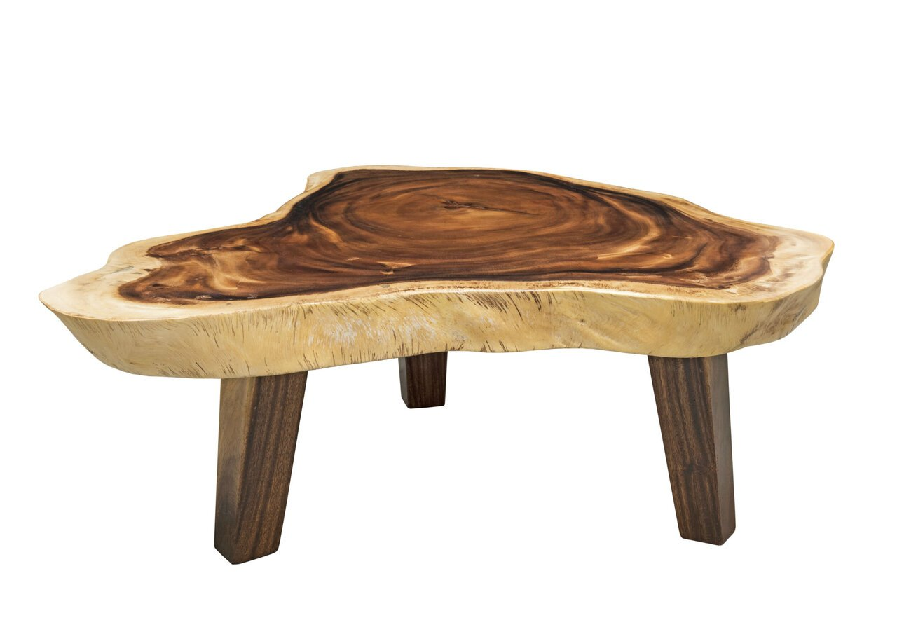 skandeko Unikat Couchtisch Massiv Suar Holz