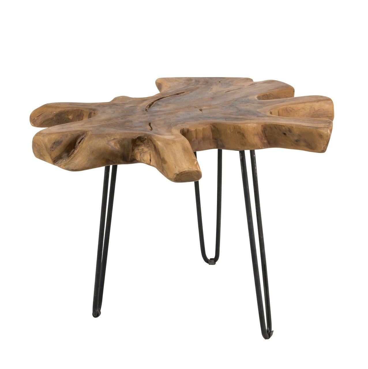 skandeko Unikat Couchtisch mit Tischplatte aus Teak