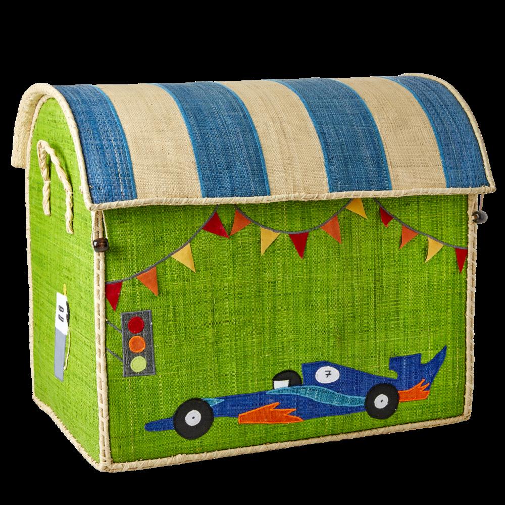 Impressionen zu RICE Spielzeug Aufbewahrung Behälter 3er Set Rennwagen, Bild 1