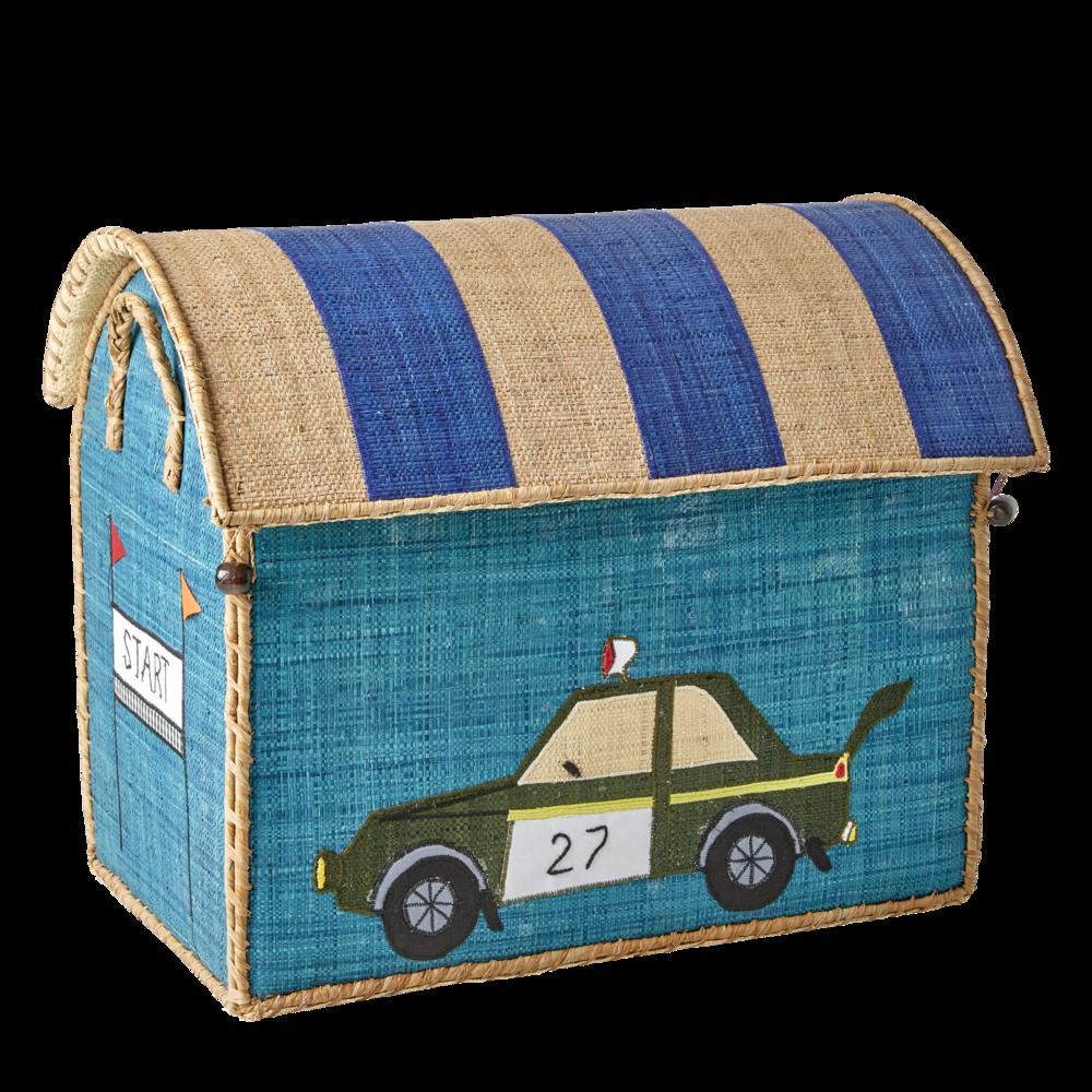 Impressionen zu RICE Spielzeug Aufbewahrung Behälter 3er Set Rennwagen, Bild 2