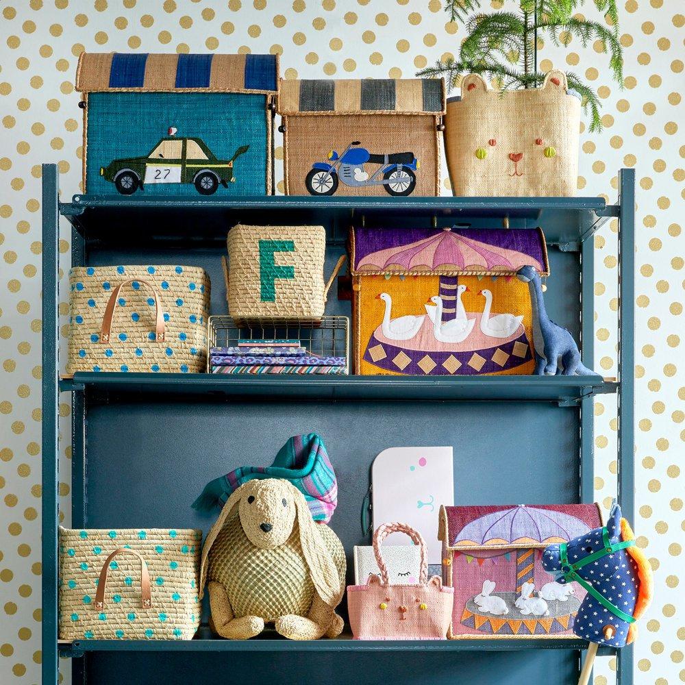 Impressionen zu RICE Spielzeug Aufbewahrung Behälter 3er Set Rennwagen, Bild 4