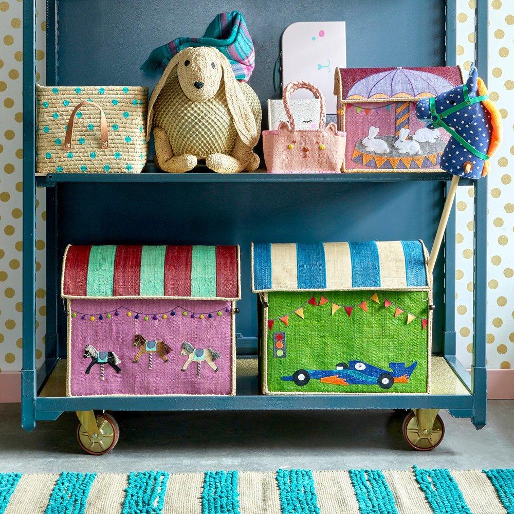 Impressionen zu RICE Spielzeug Aufbewahrung Behälter 3er Set Rennwagen, Bild 5