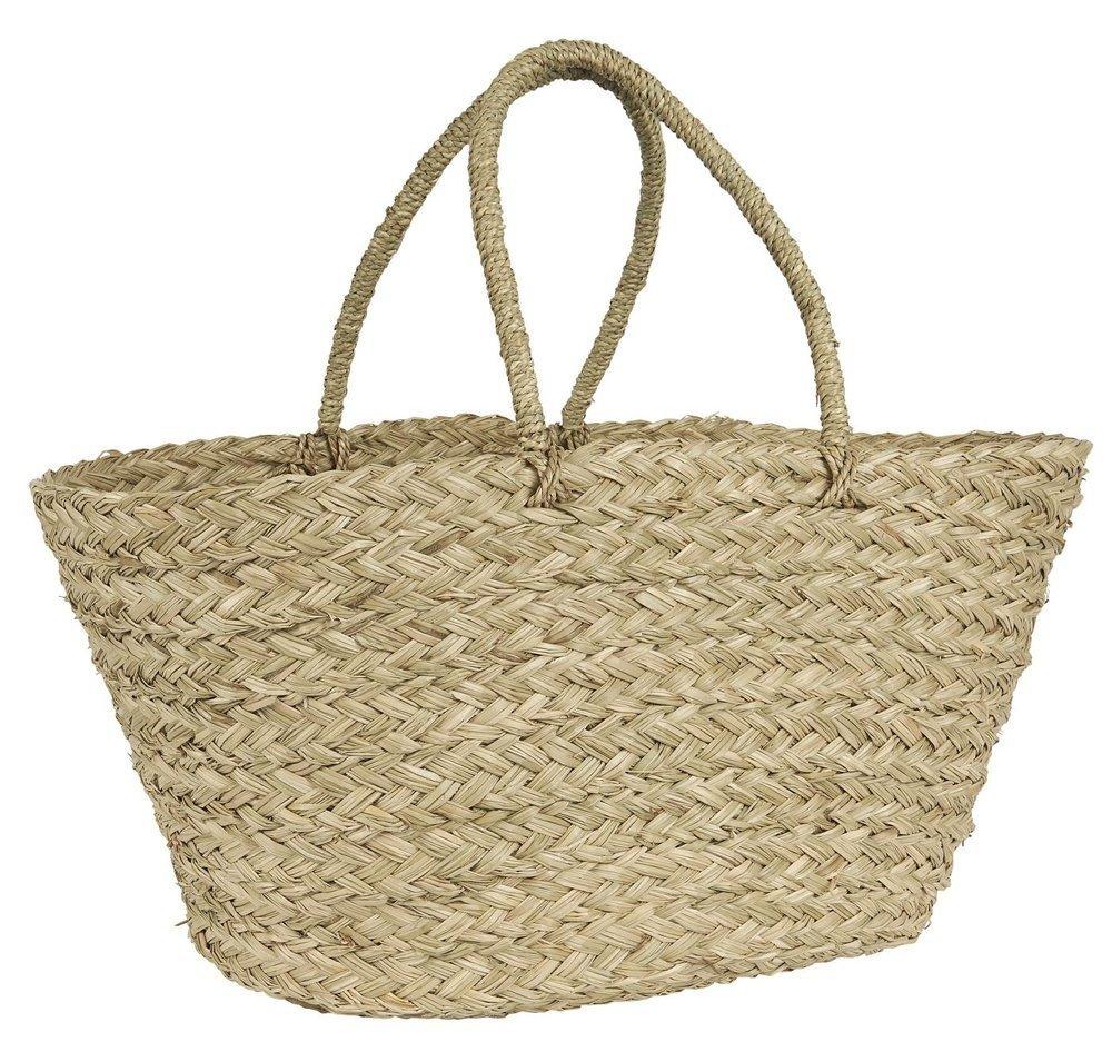 Ib Laursen Strandtasche Seegras konisch