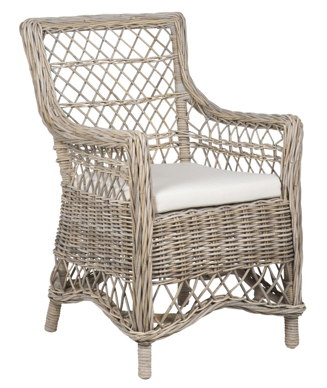 Ib Laursen Stuhl aus Rattan mit Kissen