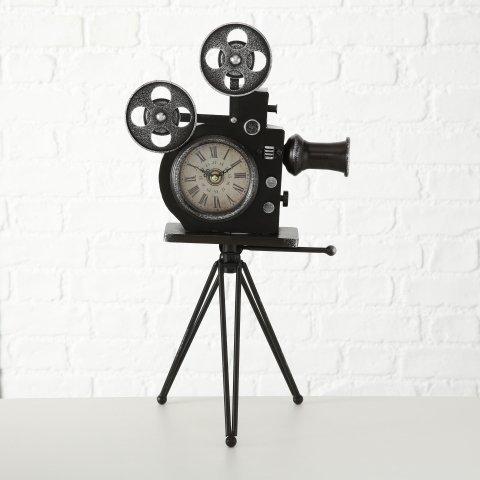 Boltze Tischuhr Filmkamera mit Standfuß