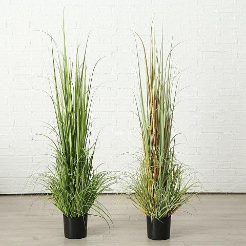 Boltze Topfpflanze Runa Kunst-Gräser 2er Set