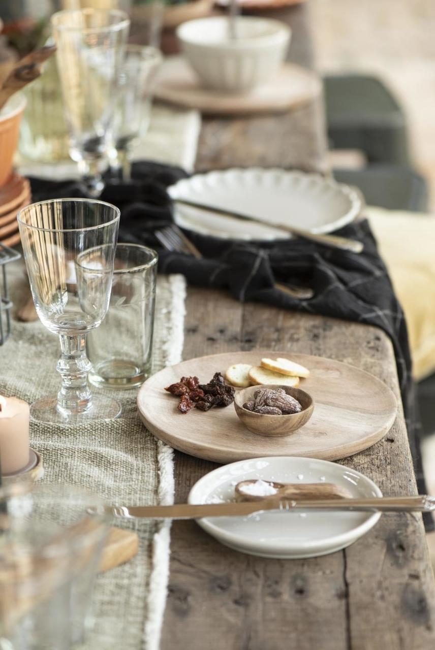 Impressionen zu Ib Laursen Trinkglas mit Blattkante geschliffen, Bild 5