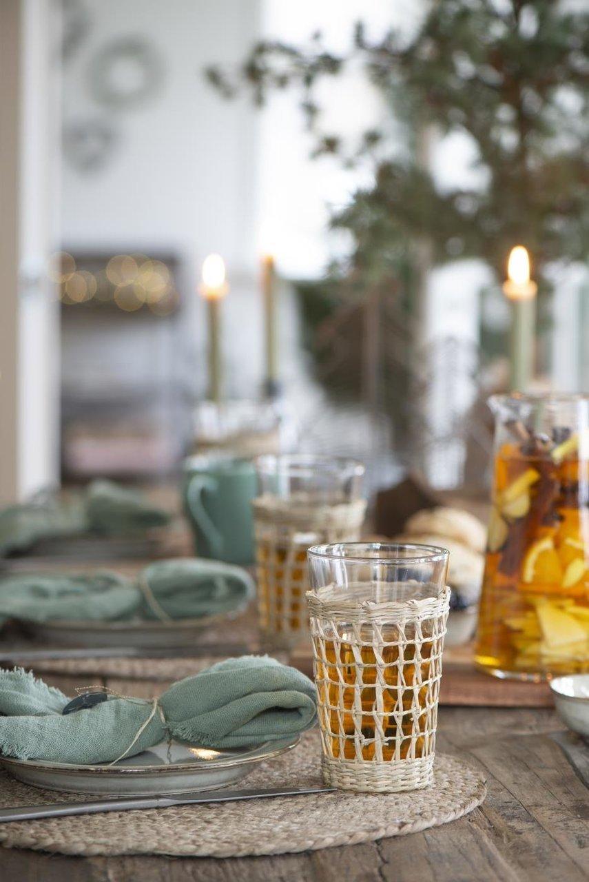 Impressionen zu Ib Laursen Trinkglas mit Strohgeflecht, Bild 3