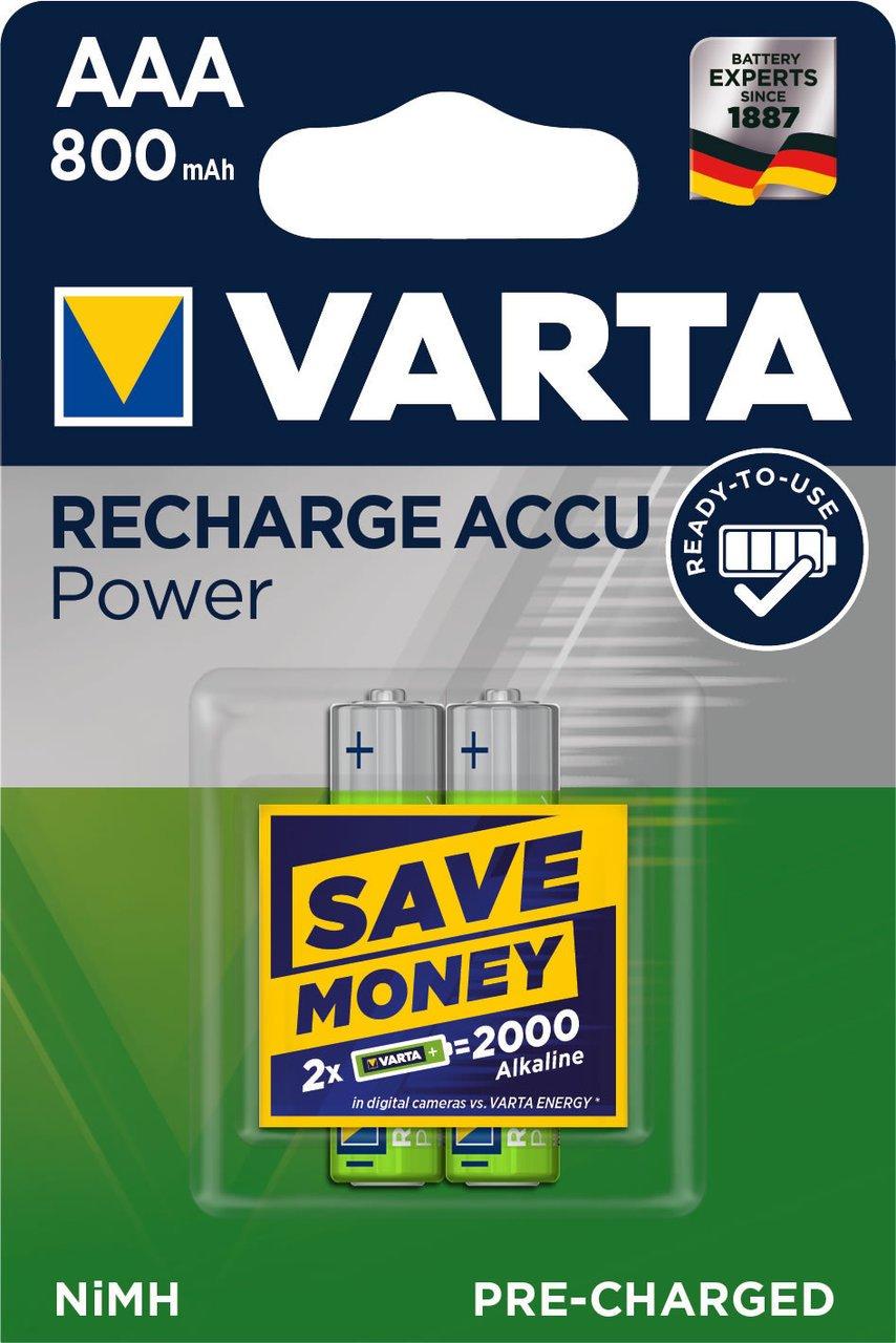 Varta Recharge Akku wiederaufladbare Batterien