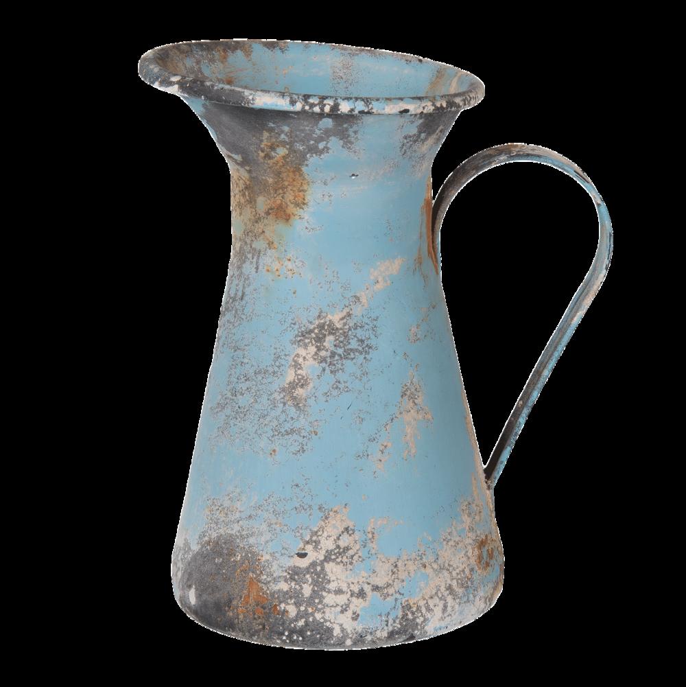 Clayre & Eef Vintage Dekoration Kanne Blau