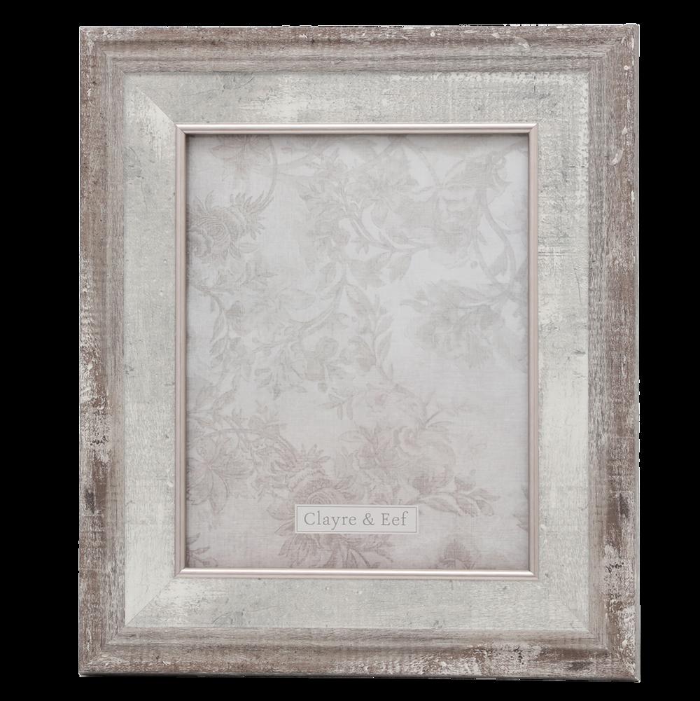 Clayre & Eef Vintage Fotorahmen grau weiß