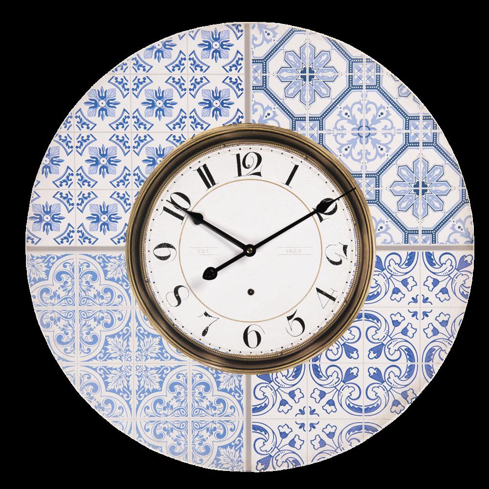 Clayre & Eef Vintage Landhaus Wand-Uhr