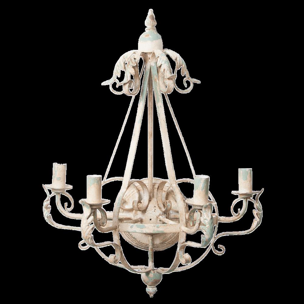 Clayre & Eef Wandlampe aus Metall Shabby Chic
