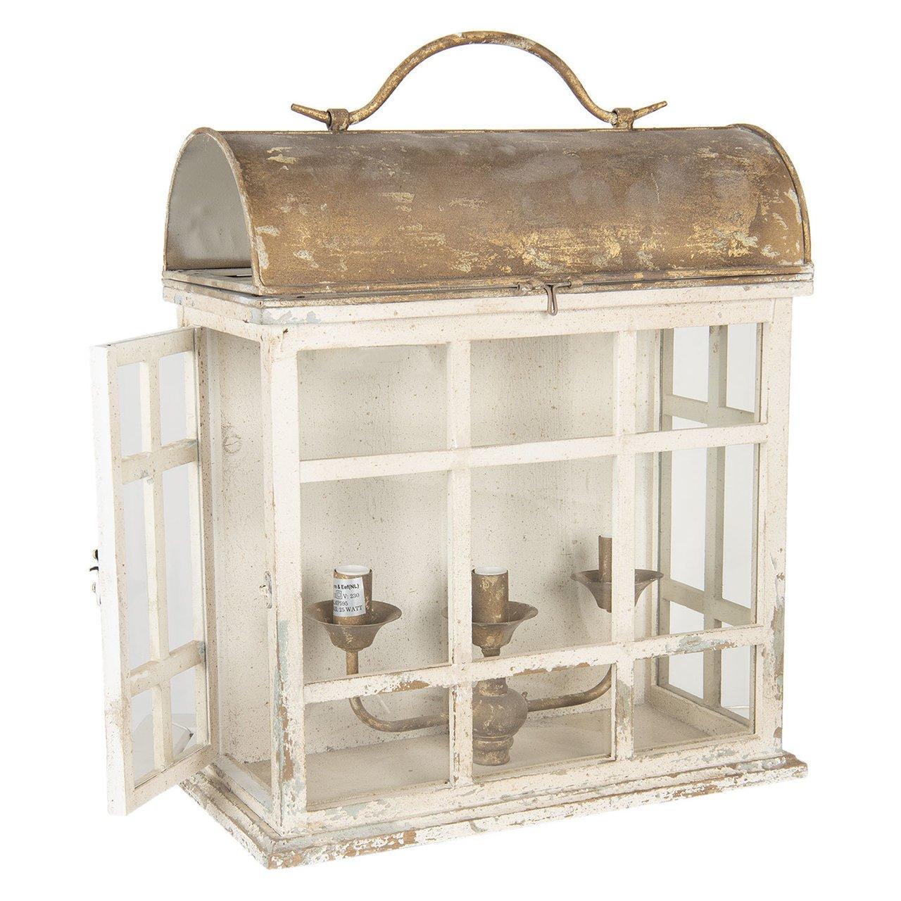 Clayre & Eef Wandlampe Vintage Box