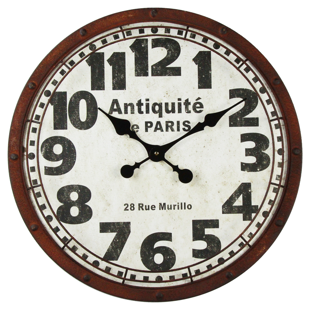 Clayre & Eef Wanduhr Antiquite Paris