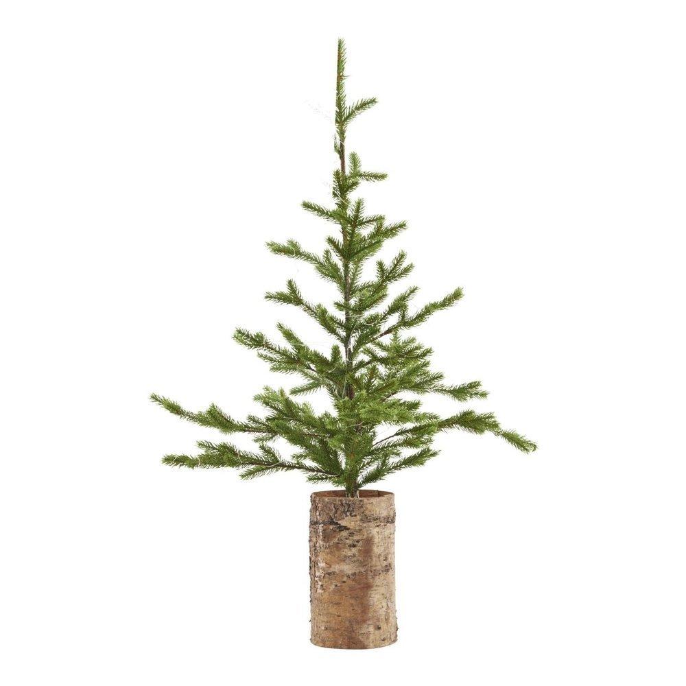 House Doctor Weihnachtsbaum mit Lämpchen und Holzfuß