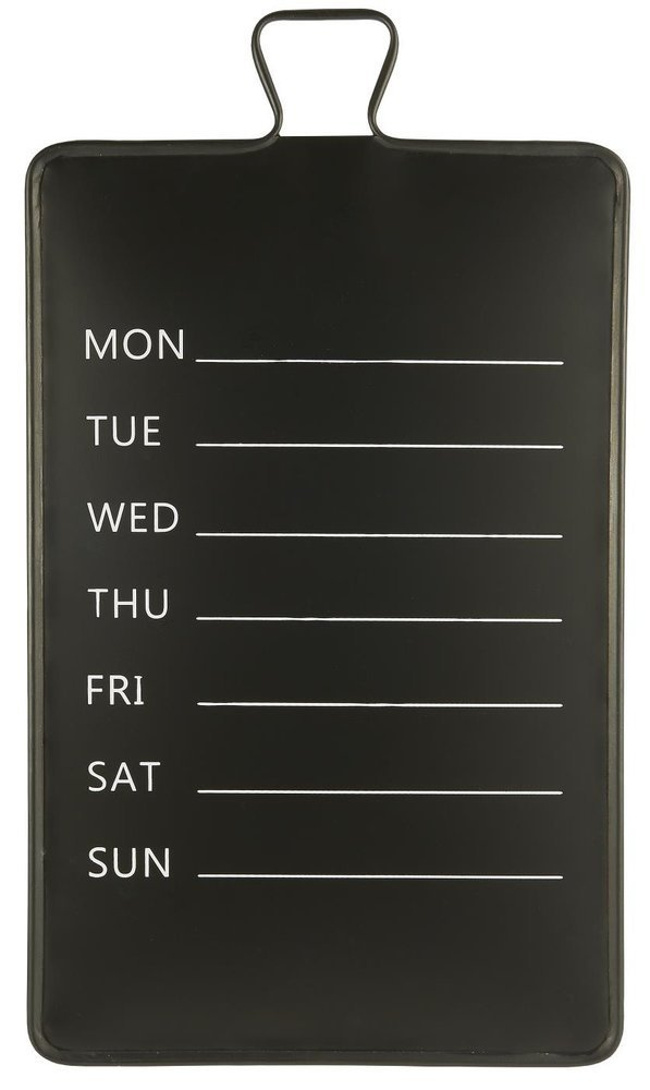 Ib Laursen Wochenkalender Wand Tafel aus Metall