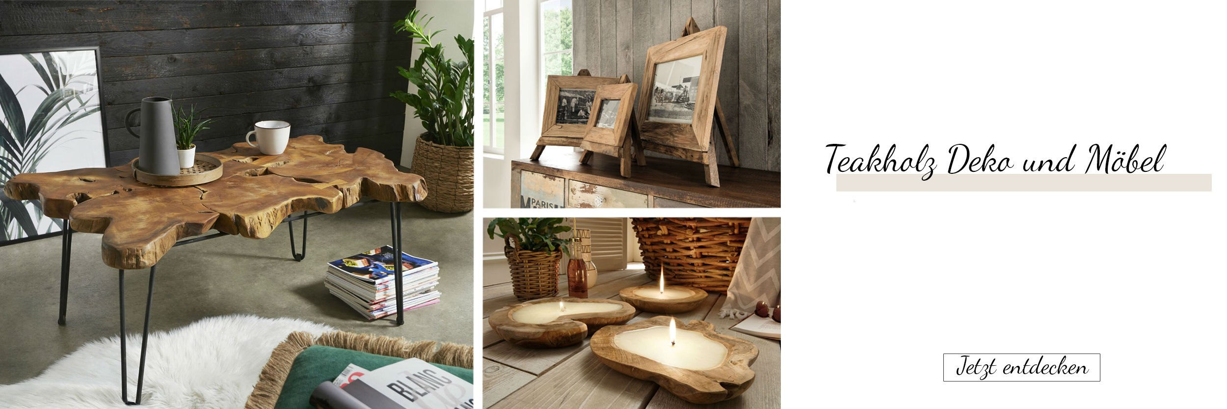 Teakholz Möbel und Deko Online Shop